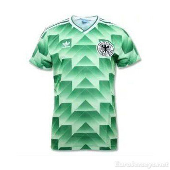 West Germany 1988-1990 Away Green Retro Cheap Soccer Jerseys